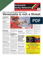 Australia-Venezuela Solidarity Network broadsheet
