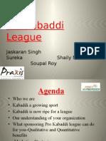 Sponsorship proposal for Pro-Kabaddi League