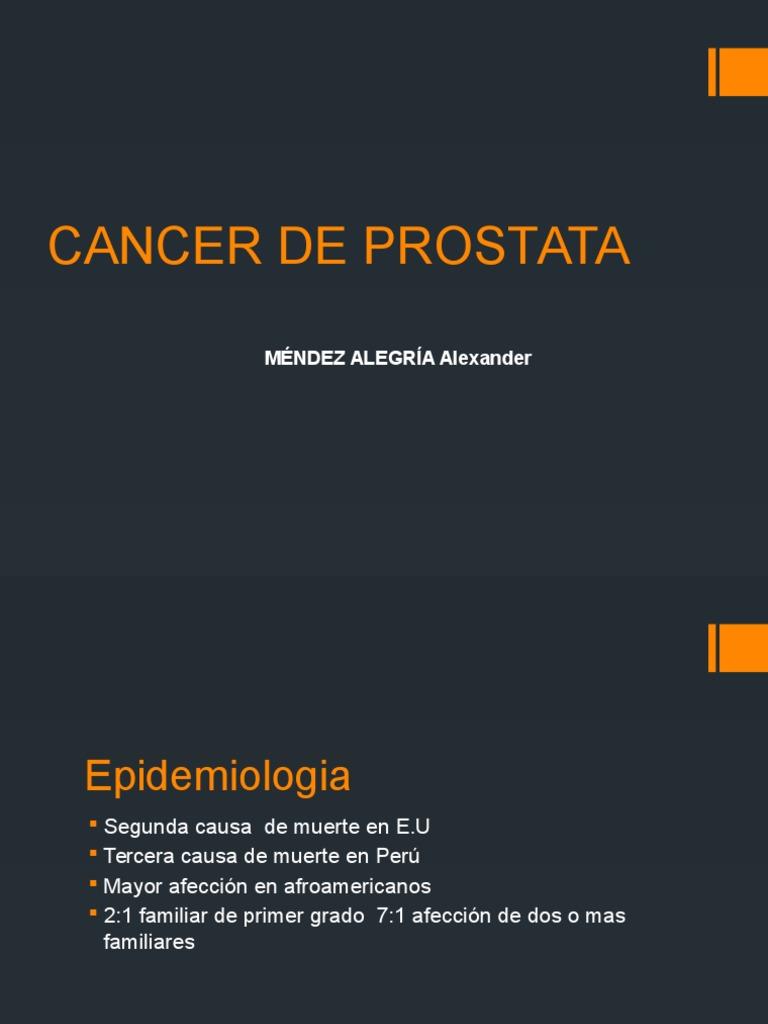 cáncer de próstata primer grado de