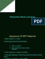 Markowitz 2005