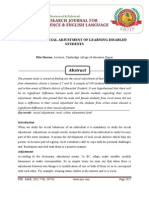 2 Ritu A STUDY OF SOCIAL ADJUSTMENT OF LEARNING DISABLED STUDENTSSharma