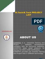 M.tech-B.tech Project List