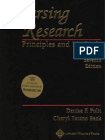 Nursing Research Principles and Methods 7th Edition Polit