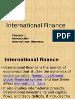 Ch.1 Introduction International Finance Final