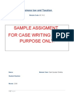 Sample BLT Assignment (for Case Writing Purpose Only)