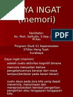 Unsur Psikologi Memori Daya Ingat