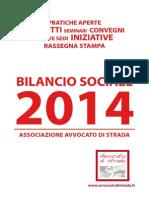 Bilancio sociale 2014 Avvocato di strada
