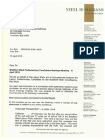 Legal Letter to George Galloway