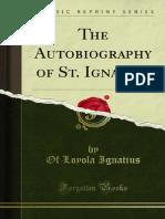 The Autobiography of St Ignatius