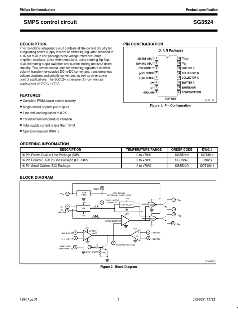 Smps Control Circuit Amplifier Electrical Circuits Inverter On Images For Using Sg3524 Diagram Image