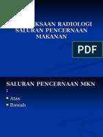 Pemeriksaan Traktus Gastrointestinal Dalam Radiologi