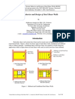 SEISMIC DESIGN OF SHEAR WALL