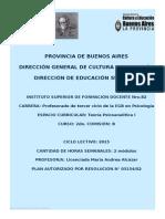 Proyecto Psicoanalisi I 2015
