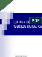GUIA ELABORAÇÃO REFERÊNCIAS BIBLIOGRÁFICAS