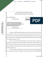 Lewis v. International Monetary Fund et al - Document No. 12
