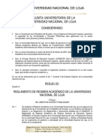 Reglamento Académico Unl 2009