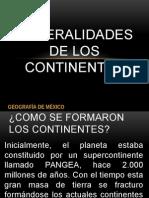 Generalidades de los Continentes