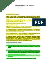 Constitución Titulo II Derechos en Ecuador
