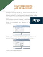 Ejecutar Un Procedimiento Almacenado de SQL Server Desde
