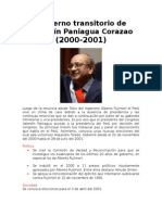 Gobierno Transitorio de Valentín Paniagua Corazao