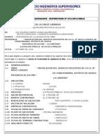 Informe de Liquidacion Supervisión - Chinchinvara