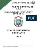 Plan de Contingencia Informatico Asia 2015