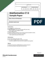IAL maths sample paper
