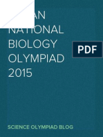 Indian National Biology Olympiad 2015
