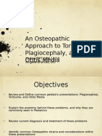 An Osteopathic Approach to Torticollis Plagiocephaly and Otitis Media 2014-15