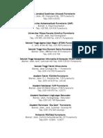 Daftar Perguruan Tinggi Di Purwokerto
