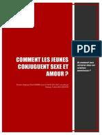 Comment les jeunes conjuguent sexe et amour ? par Paul Guérin