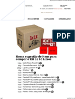 Kit 60 Litros - WE Consultoria
