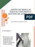 Diseño de Mezclas Para El Concreto y Estudio de Agregados