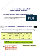 Simulation of combined low salinity  and surfactant injection