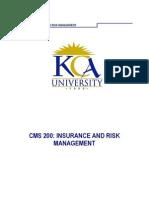 Cms 200 Insurance Risk Management Module