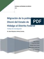 Migracion Otomi Al DF
