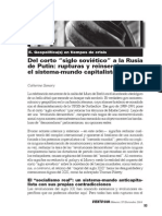 Del corto siglo soviético a la Rusia de Putin