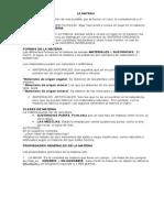 Materia Caracteristic MATERIAas y Estados