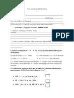 Teste Sumativo de Matemática