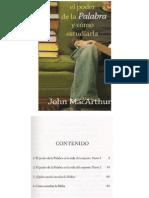 John MacArthur - El Poder de La Palabra y Cómo Estudiarla