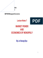 BSP1005 Lecture Notes 7 - Market Power and Economics of Monopoly [Compatibility Mode]