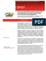 d3.1 Policy Brief Pt 1 Socio-Environmental Conflict Analysis and the Implications for Public Policy Design and Environmental Management - Jan 2015