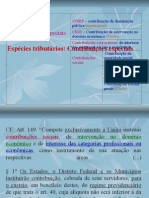 Direito Tributário - Contribuições Especiais