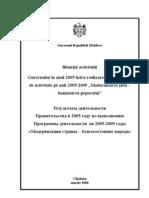 Raport_2005 Al activitatii economice din R.Moldova