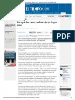 Por qué las tasas de interés no bajan - Noticias de Economía - ELTIEMPO.pdf