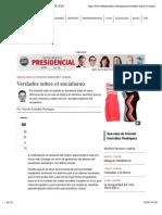 Verdades sobre el socialismo | ELESPECTADOR.COM
