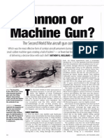 Cannon or Machine Gun in warfighters?