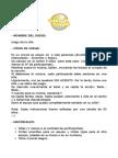 """Ficha """"Juego de La Silla"""""""