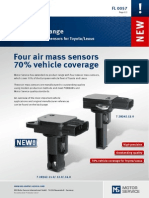 Four New Air Mass Sensors for Toyota-Lexus