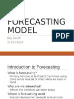 Forecasting Model - 003